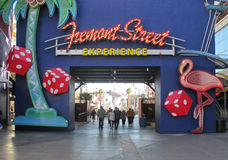 Fremont Street Entrance Royalty Free Stock Photography