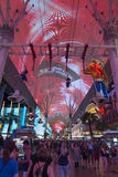 Fremont Street Experience indoor zipline Royalty Free Stock Photo