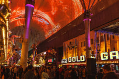 Fremont Street Experience, Las Vegas Royalty Free Stock Image