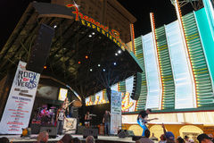 Fremont Street Experience in Las Vegas, June 21, 2013. Stock Photography