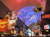 Fremont Street 2. Famous Fremont Street in Las Vegas Royalty Free Stock Images
