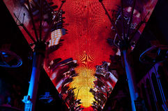 Fremont Street Las Vegas. A view on the famous led light of Fremont Steet in Las Vegas Stock Images