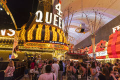 Fremont Street in Las Vegas, June 21, 2013. Royalty Free Stock Photography