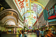 Fremont Street in Las Vegas, Nevada Stock Photo