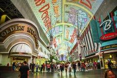Fremont Street in Las Vegas, Nevada Stock Image