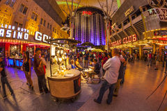 Fremont Street in Las Vegas, Nevada Stock Images
