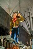 Fremont Street in Las Vegas, Nevada by night Royalty Free Stock Image