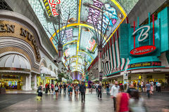 Fremont Street in Las Vegas, Nevada by night Stock Images