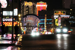 Fremont Street, Night Las Vegas Royalty Free Stock Image
