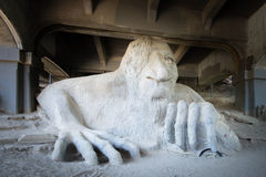 Fremont Troll, Aurora Bridge, Seattle, WA royalty free stock photos