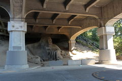 Fremont Troll Underpass. Royalty Free Stock Image