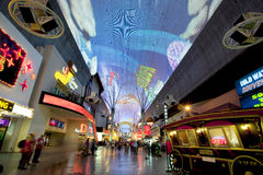 Fremontstraat - Las Vegas, Nevada Stock Afbeelding