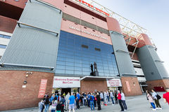 förenad manchester stadion Fotografering för Bildbyråer