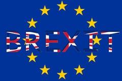 Förenade kungariket med Brexit på Europa unionbakgrund Royaltyfri Foto