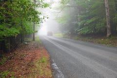 Frenando nella nebbia Fotografia Stock