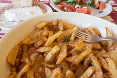 french ścinku fry obraz wyizolowanego drogę potrawki kuchni grecki mięso greccy moussaka warzywa Zdjęcia Royalty Free