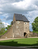 French abbey ruins. On the sun Royalty Free Stock Photography