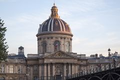 French Academy building in Paris France Royalty Free Stock Photography