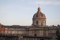French Academy building in Paris France Royalty Free Stock Photo