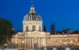 The French Academy in the evening, Paris, France. Stock Photography