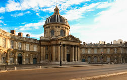 The French Academy at sunny day, Paris, France. Royalty Free Stock Image