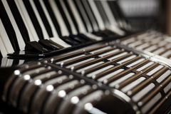 French Accordion Bandeon Instrument Keys Stock Images