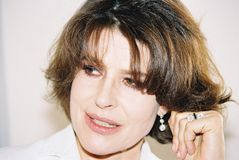 French actress Fanny Ardant stock images