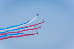 French air force aerobatic team Royalty Free Stock Photography