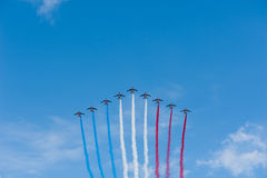 French air patrol - French National Day Stock Photography
