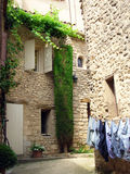 French alley. Old and narrow alley in a mediterranean village - Provence - France Royalty Free Stock Photo