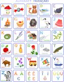 French alphabet. For children with funny pictures Royalty Free Illustration