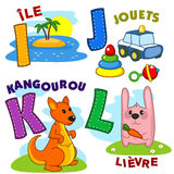 French alphabet part 3 Stock Images
