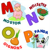 French alphabet part 4 Stock Images