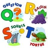 French alphabet part 5 Royalty Free Stock Photo