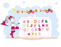 French alphabet vector. alphabet fran�ais Stock Image