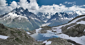 French Alpine Lake Stock Image