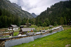 French Alpine village Stock Photo