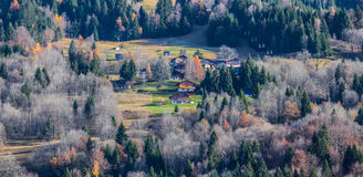 French Alpine Village Royalty Free Stock Images