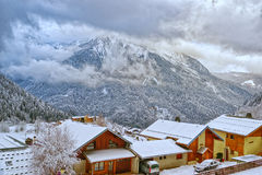 French alpine village Royalty Free Stock Image