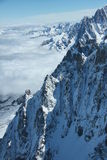 French Alps. Panorama of the French Alps close to Mont Blanc, East of France Stock Photo
