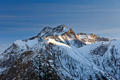 French Alps. Peak of Roche de la Muzelle in French Alps Royalty Free Stock Image