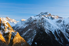 French Alps. Beautiful alpin landscape at sunset Royalty Free Stock Images