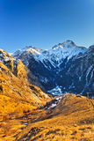 French Alps. Beautiful alpin landscape at sunset Stock Photography