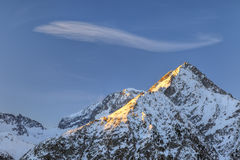 French Alps. Peak of Roche de la Muzelle in French Alps Stock Photography