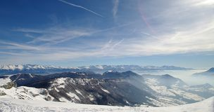 French alps. View of the french alps in winter Stock Images
