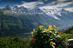 French Alps. View of the French Alps near Chamonix,France Royalty Free Stock Images