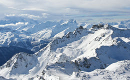 The French alps. Beautiful view over the French alps stock images