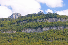 French Alps. Above Lake Annecy Stock Photography