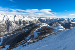 French Alps in Auron Royalty Free Stock Image