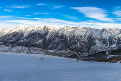 French Alps in Auron, South of France Stock Photos